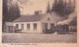 CPA - 57 - CAMP De LUDWIGSWINKEL - MILITARIA - La GARE Et La LOCOMOTIVE, TRAIN Ou TRAMWAY - Estaciones Con Trenes