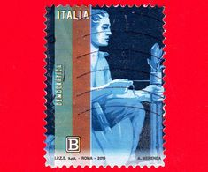 ITALIA - Usato - 2019 - Giornata Della Filatelia – Democratica - Contadino Che Innesta Un Alberello - B - 6. 1946-.. Repubblica
