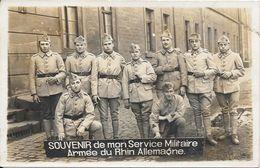 SOUVENIR De Mon Service Militaire Armée Du Rhin Allemagne - Characters