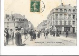 Montluçon - La Rue De La République - édit. F. Pointud  + Verso - Montlucon