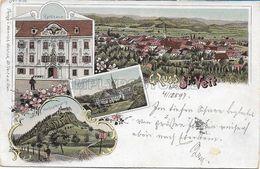 OLD POSTCARD - AUSTRIA - CARINZIA - LITHO - GRUSS AUS ST. VEIT A.D. GLAN  - VIAGGIATA 1897 - U15 - St. Veit An Der Glan