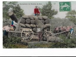 Chargement Du Charbon De Bois - édit. E.L.D. Le Deley  + Verso - Miniere