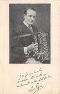 Accordéon - Accordéonniste Louis Péguri - Carte Publicitaire - Music And Musicians