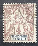 SENEGAMBIE ET NIGER  1903 , Type Groupe Yvert No 3, 4 C Lilas Brun Obl TB - Used Stamps