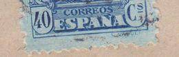 ERROR Variety BIG Perf. Tooth !! Spain A. MARTINEZ GONZÁLEZ, MURCIA 1927 Cover Letra HAMBURG Germany 40c. Alphonse XIII. - Variedades & Curiosidades