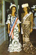 Tahiti Maire Tehei Miss Tahiti 1970 Et Marie Claude Chavez Miss Tiurai 1970 (2 Scans) - Tahiti