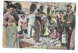 CPA 76 DIEPPE Marché Aux Poissons Très Animée Gros Plan Aqua Photo 1906 ? - Dieppe