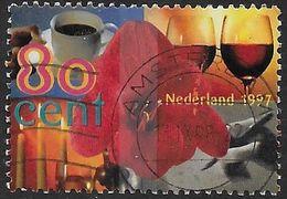 NVPH 1720b - 1997 - Amarillus Met Kopje Koffie, Glazen Wijn, Dineren - Fosforescerend Papier - 1980-... (Beatrix)