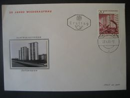 Österreich 1965- FDC Beleg 20 Jahre Wiederaufbau - FDC