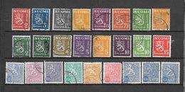 FINLANDIA 25  Valori USATI 1937 - 1954 Lot Lotto - Collections