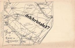 CPA 51 CHÂLONS-sur-MARNE - Plan Du Camp De Châlons - Précurseur - Non Circulée - Dos Non Divisé - Châlons-sur-Marne