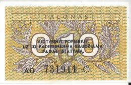 LITUANIE - 0.1 Talonas 1991 - UNC - Litauen
