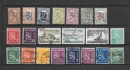 FINLANDIA 21  Valori USATI 1918 - 1959 Lot Lotto - Collections