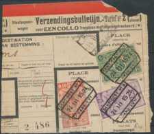 """D - [69331]TB//-Bulletin D'envois, Timbre Du Chemin De Fer Dont TR130 Avec Obl """"GENT-OOST N°3"""" à """"MONS"""" Timbre Perforé - Briefe & Fragmente"""