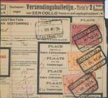 """D - [69338]TB//-Bulletin D'envois, Timbre Du Chemin De Fer Dont TR131 Avec Obl """"GAND-EST N°9"""" à """"MONS"""" Timbre Perforé - Briefe & Fragmente"""