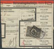 """D - [69340]TB//-Bordereau D'expédition De """"HAREN NORD N°5"""" TR128 Seul, Timbre Perforé - Briefe & Fragmente"""