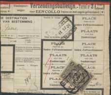 """D - [69341]TB//-Bordereau D'expédition De """"HAREN NORD N°5"""" TR128 Seul, Timbre Perforé - Briefe & Fragmente"""