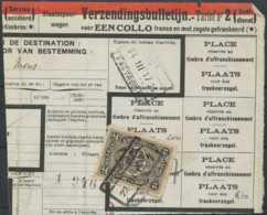"""D - [69343]TB//-Bordereau D'expédition De """"HAREN NORD N°5"""" TR128 Seul, Timbre Perforé - Briefe & Fragmente"""