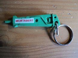 VIEUX PORTE CLE EN FORME DE VERIN OU FOREUSE. MONTABERT INGERSOLL RAND CONSTRUCTION AND MINING. - Porte-clefs