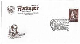 1707p: Gustav Mahler, Steinbach Am Attersee- Heimatbeleg Gasthof Föttinger Gest. 1989 - Attersee-Orte