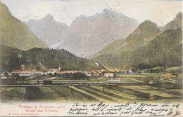 OLD POSTCARD - SLOVENIA -  POZDRAV IZ KRANJSKE GORE - GRUSS AUS KRONAU - VIAGGIATA 1903 - U105 - Slowenien