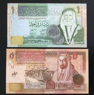 JORDAN SET 1, 5 DINARS BANKNOTES 2002-2005 UNC - Jordania