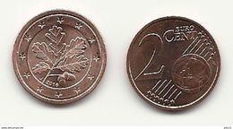 2 Cent, 2016, Prägestätte (J) Vz, Sehr Gut Erhaltene Umlaufmünze - Germany
