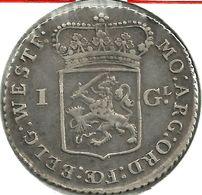 NETHERLANDS  1 GUILDER SHIELD FRONT  STATUE BACK  1791  AG  KM?  VFINE READ DESCRIPTION CAREFULLY !!! - [ 1] …-1795 : Période Ancienne
