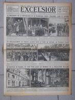 Journal EXCELSIOR 25 Juillet 1919 Le Président De La République Et Le Maréchal Foch à Malines Gand Et Anvers Belgique - 1914-18