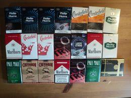 LOT DE 13 PAQUETS DE CIGARETTES VIDES. 10 DU PARAGUAY / 2 DE FRANCE ET 1 GREC LES 13 DIFFERENTS. DOUBLES EN SUS. 3 PHIL - Etuis à Cigarettes Vides