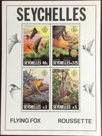 Seychelles 1981 Flying Fox Animals Minisheet MNH - Unclassified