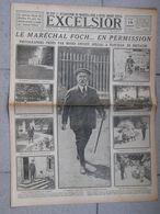 Journal EXCELSIOR 14 Août 1919 Le Maréchal FOCH En Permission Ploujean - 1914-18
