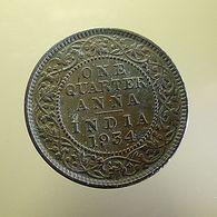 British India 1/4 Anna 1934 - Kolonien