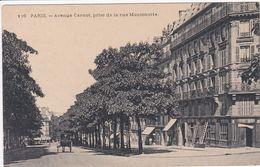 75 PARIS Avenue Carnot , Prise De La Rue Montenotte ,echelles Sur La Façade ,N° 116 - Arrondissement: 17