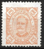 Lourenco Marques – 1893 King Carlos 5 Réis - Lourenco Marques