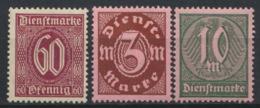 Deutsches Reich Dienst 66/68 ** Postfrisch - Officials