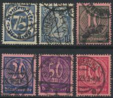 Deutsches Reich Dienst 69/74 O - Officials