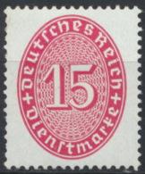 Deutsches Reich Dienst 124 ** Postfrisch - Officials