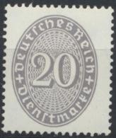 Deutsches Reich Dienst 126 ** Postfrisch - Officials