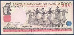 RWANDA 5000 FRANCS P-28b Dancers - National Bank Of Rwanda Building, Kigali 1998 UNC - Rwanda