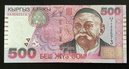KYRGYZSTAN 500 SOM BANKNOTE 2000 P-17 UNC - Kirghizistan