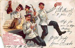 PORFO ERMÄßIGUNGEN Fur SENDUNGEN An SOLDATEN~1899 KUNSTLER POSTCARD 47053 DAMAGED - Other