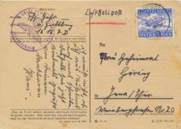 Deutsches Reich Feldpost 1A Auf Karte - Lettres & Documents