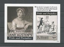St Vincent 2013 Jane Austen S/S 2 Y.T. BF 694 ** - St.Vincent (1979-...)