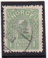 #12159 Norway, Norge 1907 Stamp 1 Kr, Used, Michel 67: King Haakon VII. - Norwegen