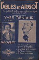 Partitions-FABLES EN ARGOT Par Boby Forest & Yves Deniaud-6 Fables (le,Loup Et L'agneau-Le Pot De Perette...) - Scores & Partitions