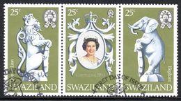 Swaziland - 1978 25th Anniversary Of Coronation Set (o) # SG 293-295 - Swaziland (1968-...)