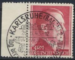 Deutsches Reich 801A Seitenrand O Sonderstempel Karlsruhe - Used Stamps