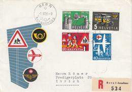 Suisse - 01/03/1956 - FDC - Propagande - Lettre Recommandée De Bern Pour Zürich - Svizzera