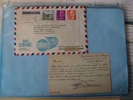 ESPAGNE. LOT D UN ENTIER POSTAL ET D UNE ENVELOPPE CINE ABC. 1907 / 1972 ENTIER POSTAL 10 CENTIMOS ORANGE. CORRESPONDAN - 1850-1931